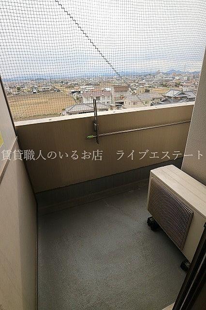 最上階からの眺望はなかなかのものです(同タイプ507号室の参考写真です)