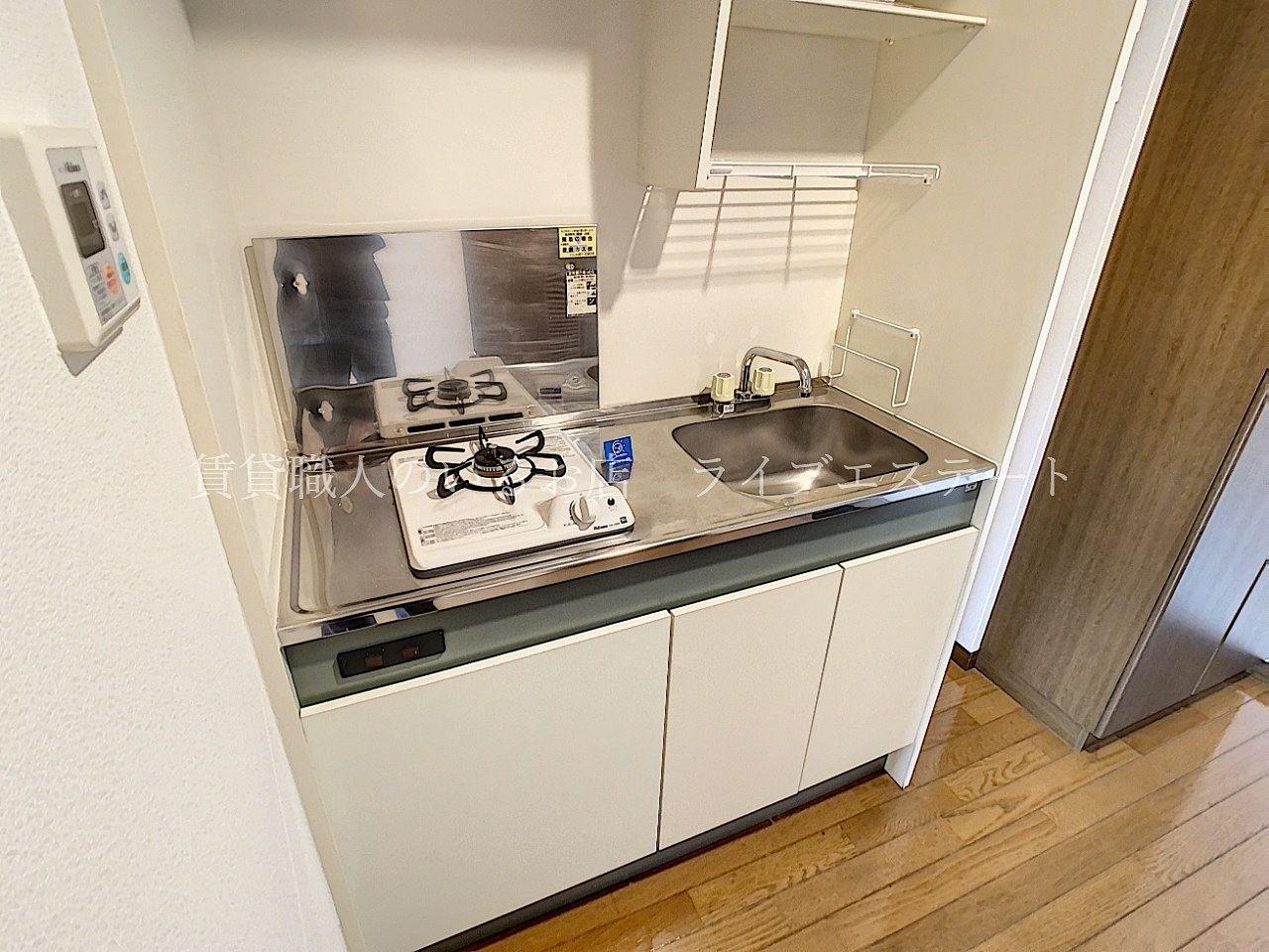 キッチン下は全部収納になっており、食器や調理器具がしまえます