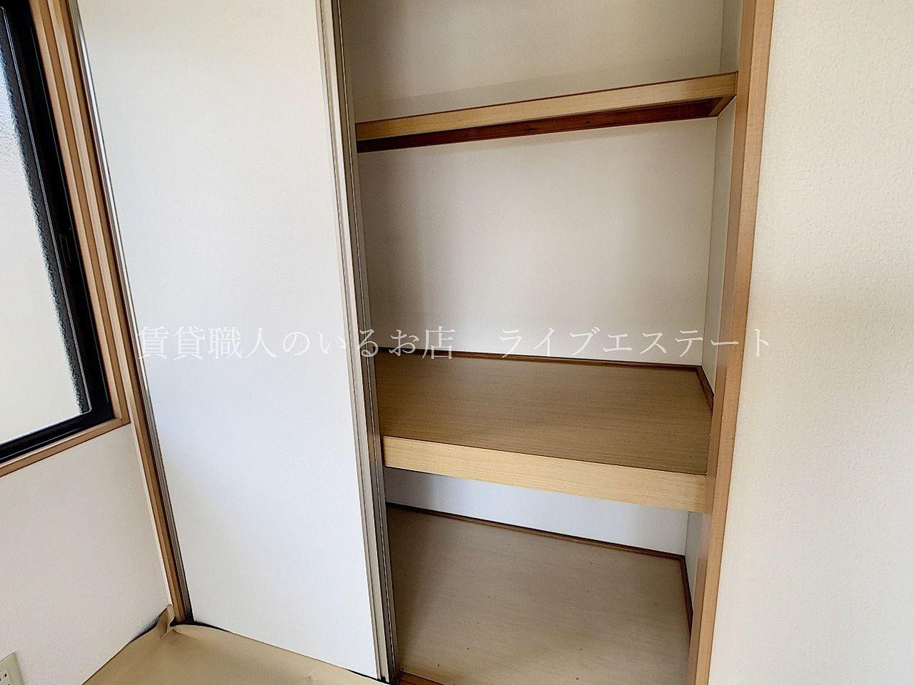 全居室に収納があり、お部屋をすっきりと使えます
