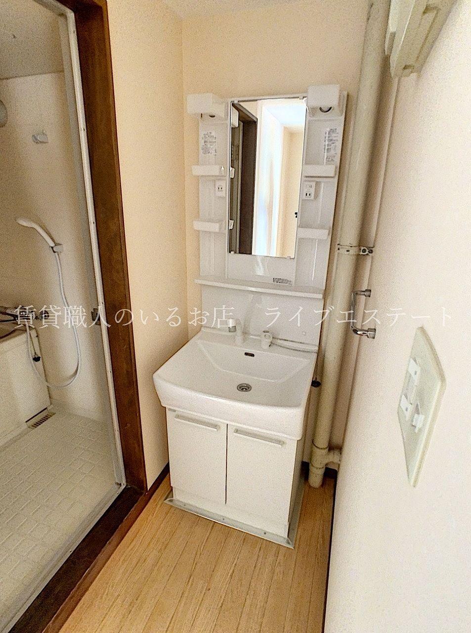 洗面ボウルをお掃除するときもシャワーの方が流しやすいです
