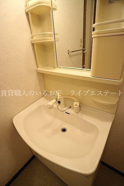 洗面ボウルのお掃除もしやすい(反転タイプ201号室の参考写真です)