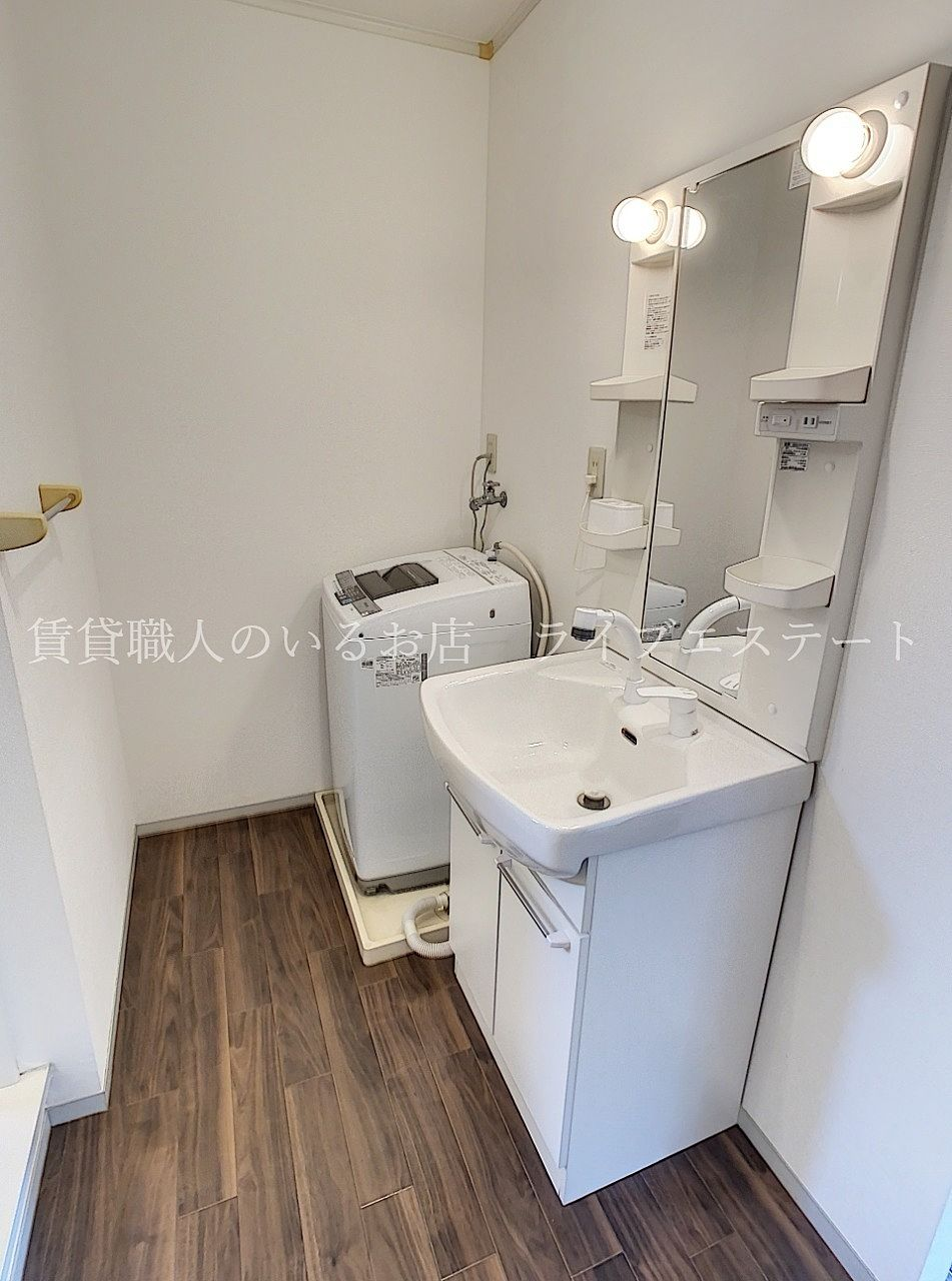洗面脱衣所は玄関から直行できるので帰宅後すぐに手を洗えます