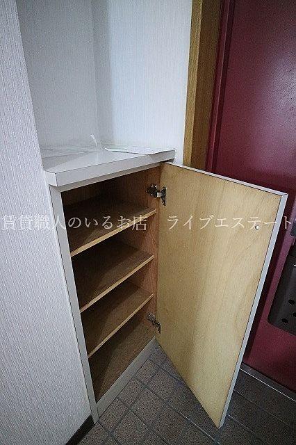 玄関の土間をすっきりさせられますね(同タイプ301号室の参考写真です)