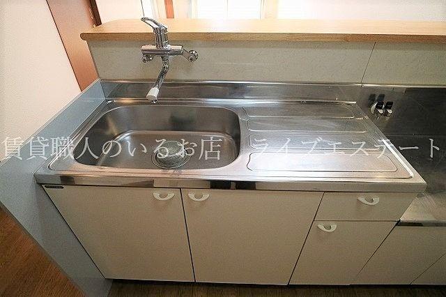 居室にはクローゼット、キッチン近くには収納付き!パントリーとしてもつかえます