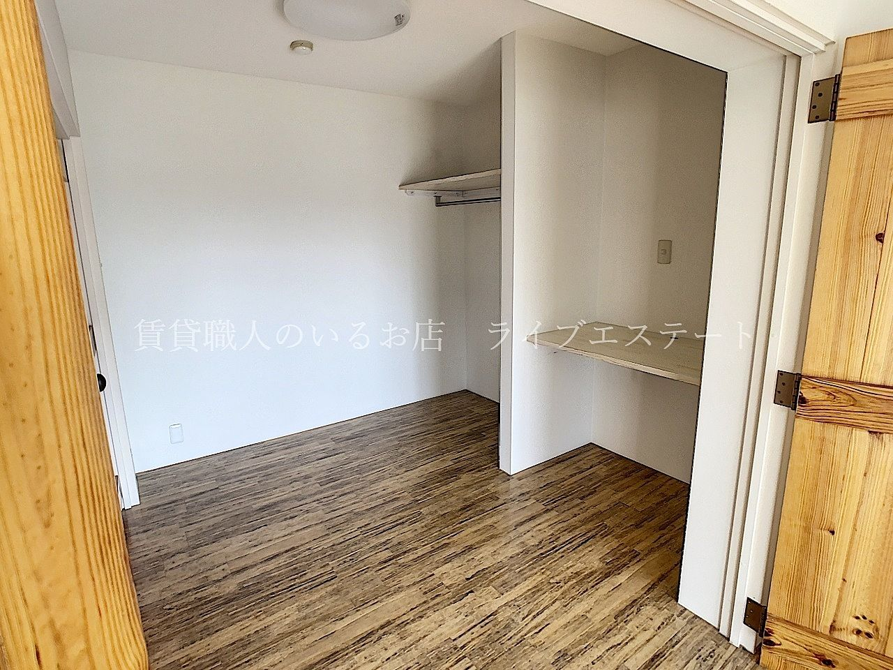 収納としても、在宅ワーク部屋やお子様用スペースにしても