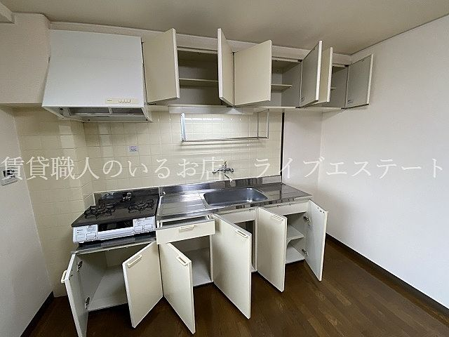 壁付のキッチンはお部屋を有効に使うことができます
