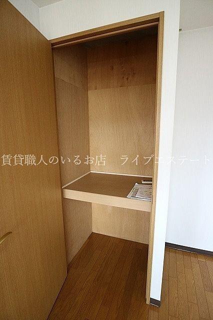 収納があるからお部屋すっきり(同タイプ301号室の参考写真です)