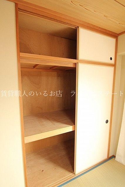 全居室に収納完備(同タイプ30A号室の参考写真です)
