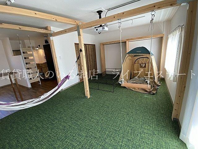 おうちでキャンプをテーマにしたお部屋