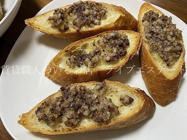 アンチョビを使ったガーリックトースト(*´▽`*)