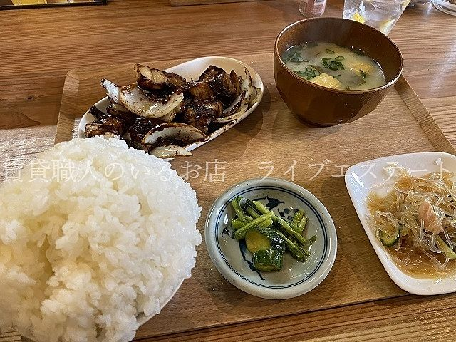 火曜・金曜限定メニュー・豚赤みそだれ定食でまたお腹いっぱい( *´艸`)・高松市瀬戸内町-健ちゃん食堂